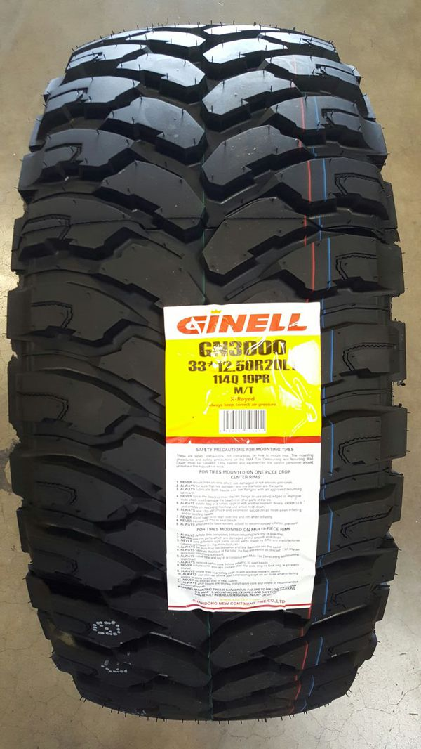 All Weather Tire >> GINELL GN3000 MT – Gulf Coast